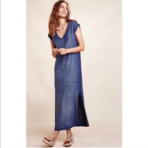 Cloth + Stone Lila Blue Cotton Dress S